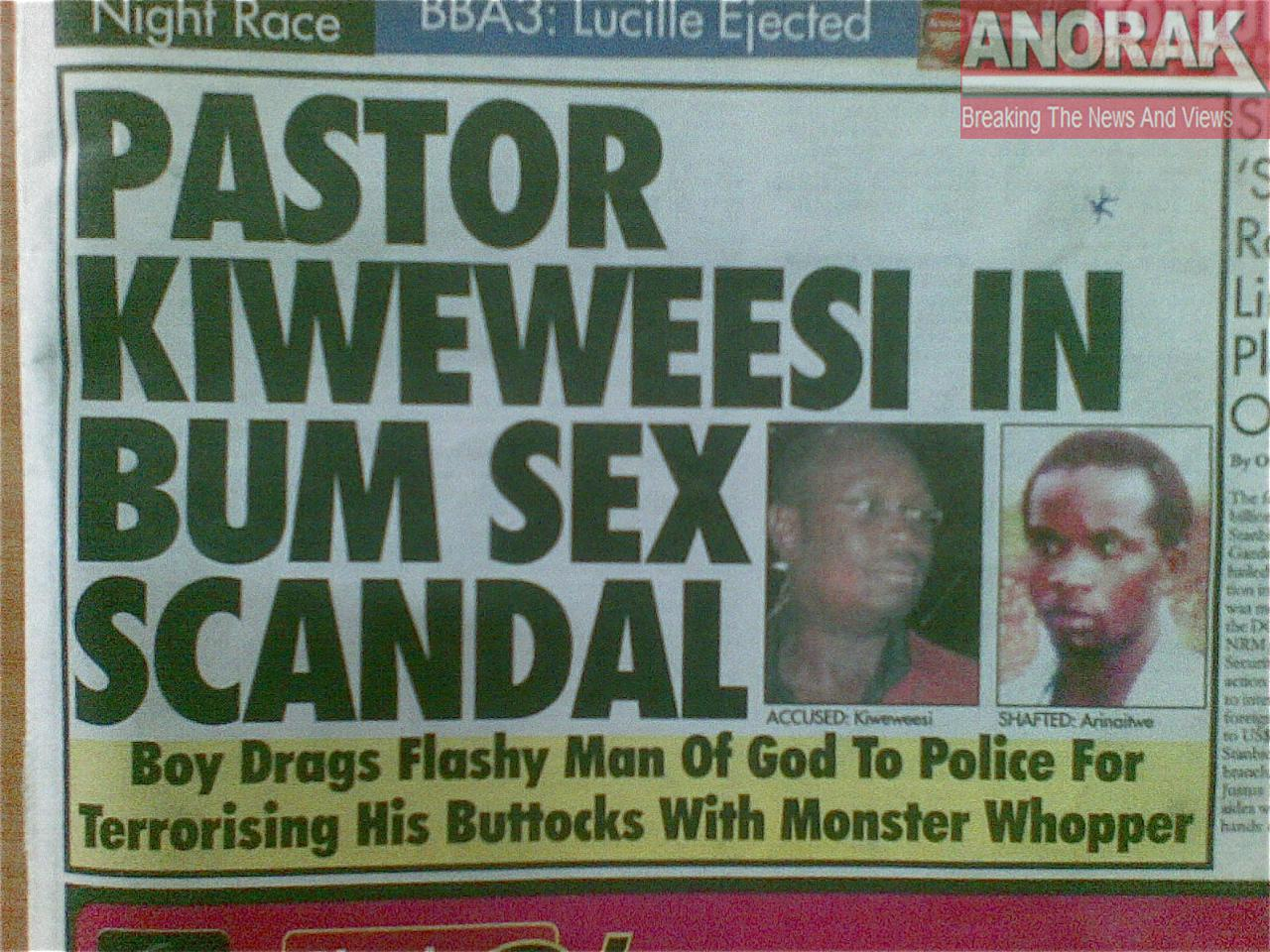 Ugandan Pastor Kiweweesi, aka Pastor Kiwewesi, In Bum Sex Scandal - Boy Drags Flashy Man Of God To Police For Terrorising His Buttocks With Monster Whopper