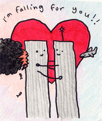 I'm Falling For You (WTC drawing, 9/11)